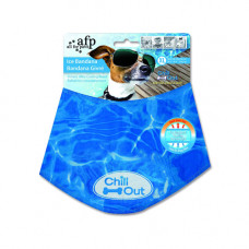 ALL FOR PAWS CHILL OUT KOELBANDANA 38-46 CM BLAUW